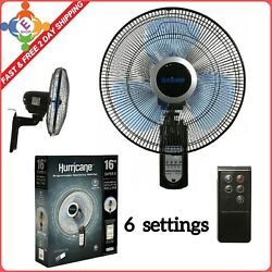 Wall Mount Fan Oscillating Outdoor Indoor Remote Electric 16 Inch 3 Speed Switch $144.92