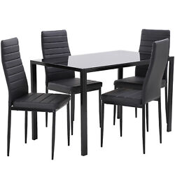 Dining Table Set Room Table for Small Spaces Set of 4 Kitchen Dining Table Set $234.99