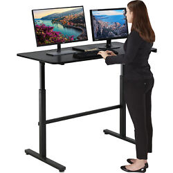 Standing Desk Converter Height Adjustable Desk Computer Workstation Desk Black $129.99