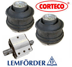 Engine Motor Mount Hydraulic 2pcs + Transmission Mount OEM Corteco Mercedes AMG $127.88
