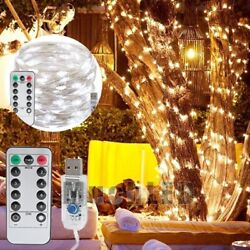 100LED Curtain Fairy Lights USB Party Wedding String Light Home wRemote Control $6.77