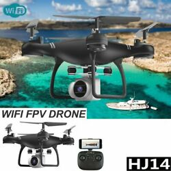 HJ14W RC Helicopter Drone Camera 1080P WIFI FPV Selfi Foldable Quadcopter Gift $59.92