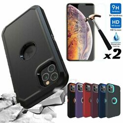 For iPhone 12 Pro 12 11 Pro Max Case Rugged Armor Phone CoverScreen Protector $7.99