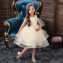 Kids Girls Party Dresses Toddler Princess Formal Prom Evening Wedding Ball Gown C $27.54