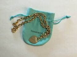 Tiffany & Co 18K Yellow Gold Chain Necklace 16