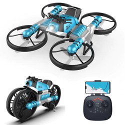 New Mini Drone Both Deformation RC Motorcycle Quadcopter Camera WiFi Foldable $89.99