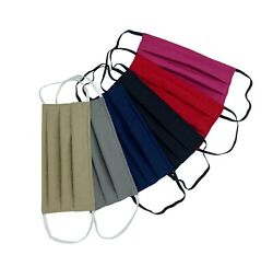 Handmade Cotton Face Mask with filter pocket Nose Wire Fabric mask Reusable USA $8.40