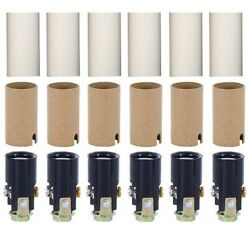 Chandelier Lighting Fixture Socket Kit With 1 3 4 Inch Candle Covers 6 Pack $9.99
