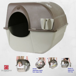 Omega Paw Self Cleaning Automatic Cat Litter Box Large Roll#x27;n Kitty Pewter Scoop $45.95