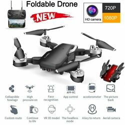 WIFI Drone 1080P Camera Foldable RC Aircraft Quadcopter Selfie FPV GPS High Hold $43.42