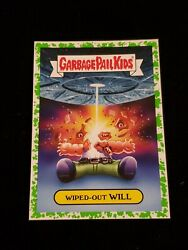 2019 Garbage Pail Kids We Hate the '90s GREEN BORDER 12b WIPED OUT WILL GPK $3.00