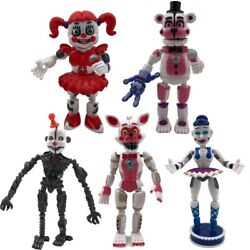 5PCS set Five Nights at Freddy#x27;s Sister Location Action Figures Party Toy FNAF $19.39