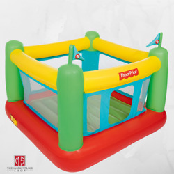 Inflatable Bounce House Kids Fordable Bouncy Castle Indoor Fun w Built in Pump $75.95