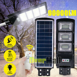 100000LM 90W Commercial Solar Street Light Outdoor IP67 Dusk Dawn Road LampPole