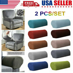 2pcsSet Sofa Armrest Covers Stretchy Couch Chair Arm Rest Protector 11 Colors $12.98