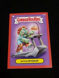 2014 Garbage Pail Kids Series 2 Red Border 55b BITER BYRON Sticker Card $4.00