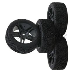 4x Pentagram RC Wheel Rims amp; Word 7 Pattern Tires for RC1:10 On Road Rally Car $15.57