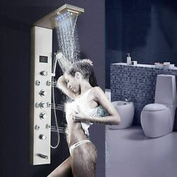 ELLO&ALLO Shower Panel Tower System LED Rainfall Waterfall Shower with Body Jets $135.00