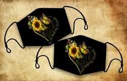 Sunflowers Butterfly Animal Heart You Are My Sunshine Comfortable Face Mask $40.50