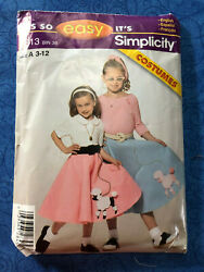 Sewing Pattern Preowned Simplicity 4913 Girls Poodle Skirt Sizes 3 12 $4.50