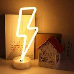 Lightning Neon Signs Battery Powered USB Art LED Decorative Lights With Base For $21.90
