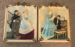 Vintage Porcelain Wall Hanging Antique Piano Staircase Victorian RARE $99.99