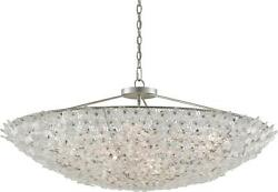 BELINDA CHANDELIER CURREY & COMPANY DOME 12-LIGHT LARGE PAINTED SILVE