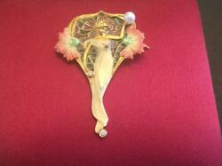 Masriera Art Nouveau Muse Pendant Brooch PB-48 Pearl Diamond Chain Included