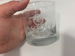Bacardi Rum Cocktail On The Tocks Glass Bat Logo Design Barware $13.88