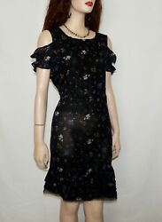 Stunning  All saints Black  Brendi Ruffle Hem  Dress  Size 10 $129.00