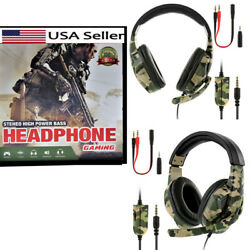 3.5mm Gaming Headset with Mic Stereo Surround Headphones for PS4 Xbox PC ☊ $19.59