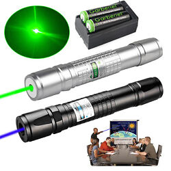 Tactical Greenamp;Blue Laser Pointer Pen Visible Beam Zoomable Lazer 18650amp;Charger $19.95