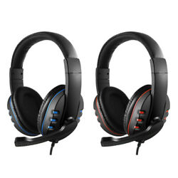 Gaming Headset Stereo Music Headphone 3.5mm Earphones Wmic For PS4 Laptop Xbox $10.99