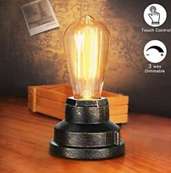 Table Lamp Vintage Desk Lamp Small Industrial Touch Light Bedside Touch control $33.97