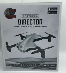 Protocol Director Foldable Drone with Live Streaming Camera Aerial Photos New $84.95