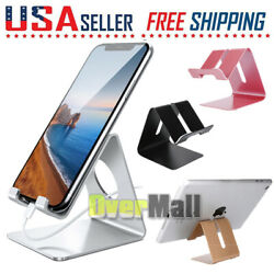Cell Phone Tablet Stand Aluminum Desk Table Holder Cradle Dock For iPhone iPad $6.43