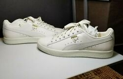 Puma Clyde Natural Star White Men#x27;s 8 363617 02 $48.98