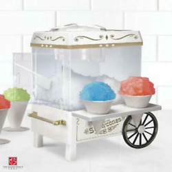 Snow Cone Maker Machine Nostalgia Stainless Steel Ice Cube Cutting Blades Indoor $52.95