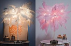 Adjustable Feather Desk Light Warm White LED Fairy Table Lamp for Home Decor     $42.99