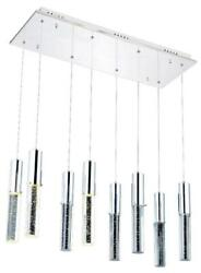 DIVA PENDANT CONTEMPORARY ADJUSTABLE HANGING HEIGHT 8 LIGHT CHROME WIRE $1089.00