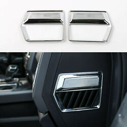 2x Side Air Conditioner Vent Outlet Decor Cover Trim for Ford F150 2015 Chrome $19.99