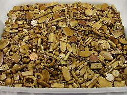 4 Pounds Assorted Water Buffalo Bone Beads  Scrap Pieces  Left Overs Bulk R2 $35.00