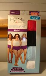 FRUIT OF THE LOOM  FIT FOR ME SIZE 12- 4 Pair Women's BRIEFS Underwear Panties   $15.00
