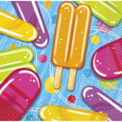 Popsicle Party 16 Beverage Napkins Summer Pool Beach Party $2.99