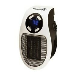 Brentwood H-C350W Personal 350-Watt Plug-In Wall Outlet Space Heater $34.90
