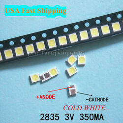 100pcs 3528 2835 3V Lamp Beads 350mA for LED TV Backlight Strip BarRepair TV $11.94