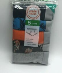Wonder Nation 5 Pack Boys Briefs Sizes 100% Cotton Brand New $12.50