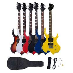 New Colorful Righ Handed 6 Strings Electric Guitar W Case amp; Accessories $66.73