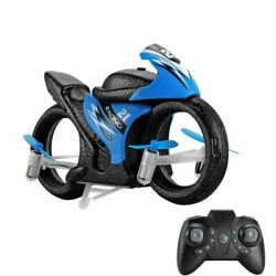 2 In 1 Mode Flying High Speed Motorcycle Key Switch Stunt 2.4G RC Drone Kids Toy $38.69