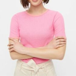 J. Crew Plus Summer Spring Pink Short Sleeve Waffle T shirt Top Blouse 3X $29.99